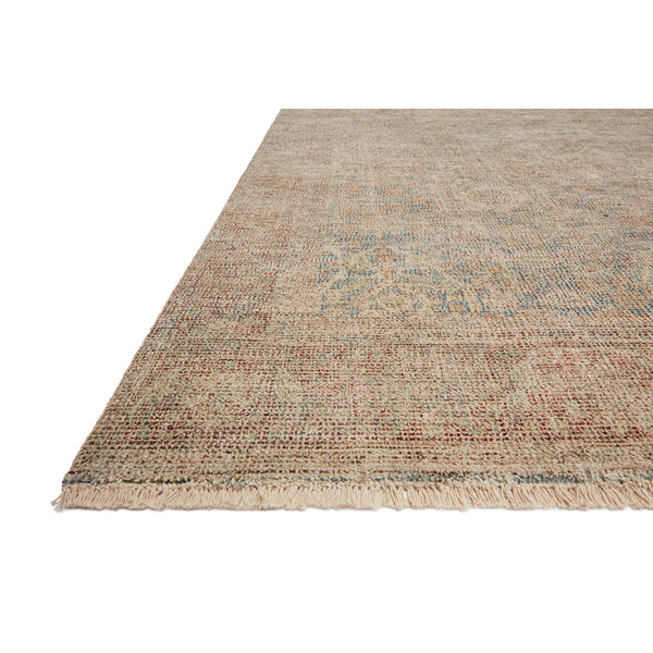 crown and birch prite rug loloi priya denim rust detail