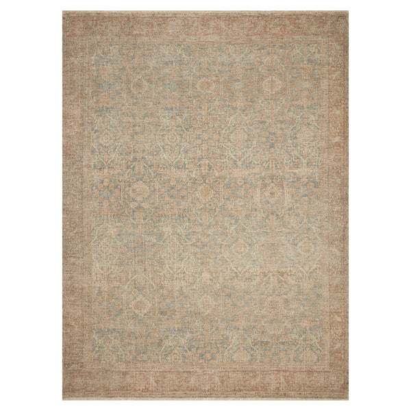 crown and birch prite rug loloi priya denim rust front