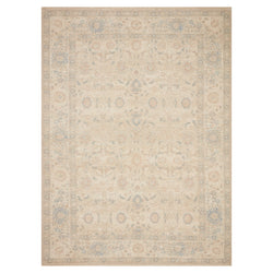 crown and birch prite rug loloi priya natural blue front