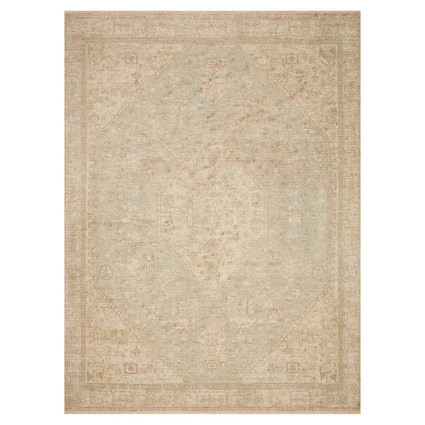 crown and birch prite rug loloi priya ocean ivory front