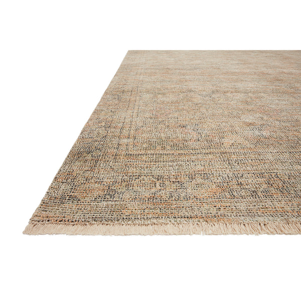 crown and birch prite rug loloi priya olive graphite detail
