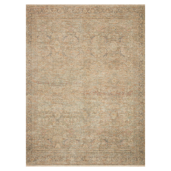 crown and birch prite rug loloi priya olive graphite front