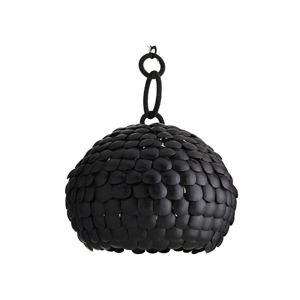 crown and birch ramus pendant black front