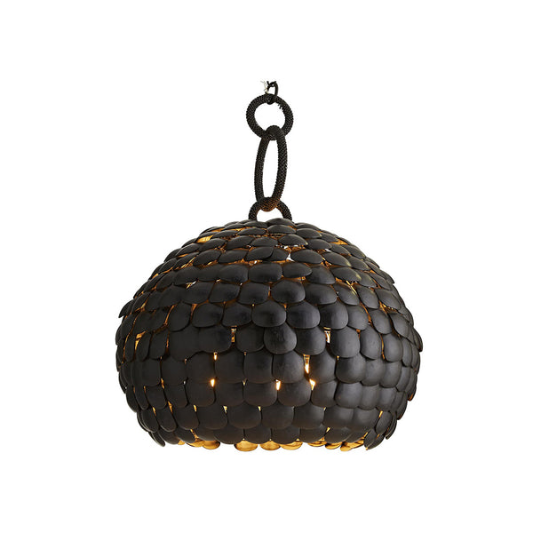 crown and birch ramus pendant black on