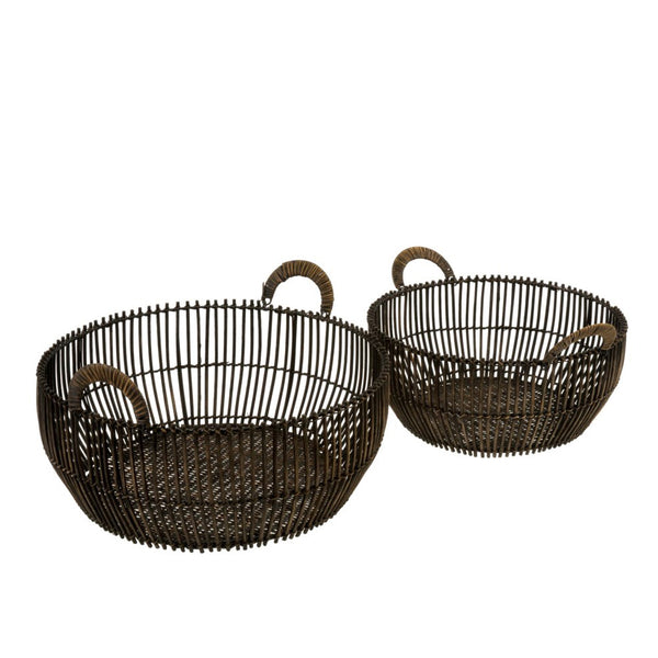 crown and birch rattan reve baskets set of 2