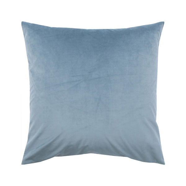 crown and birch robin blue suede pillow front