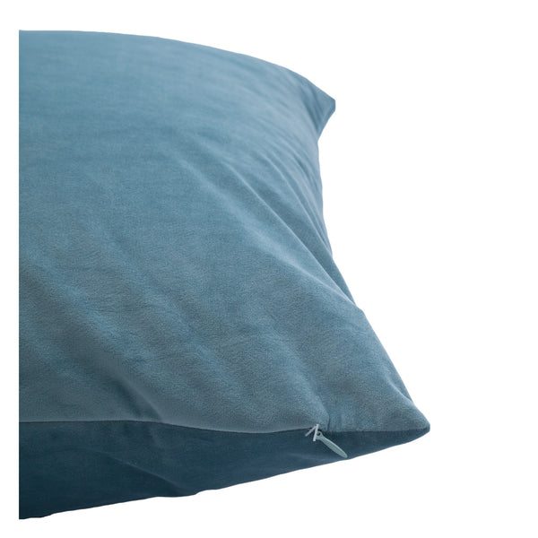 crown and birch robin blue suede pillow side