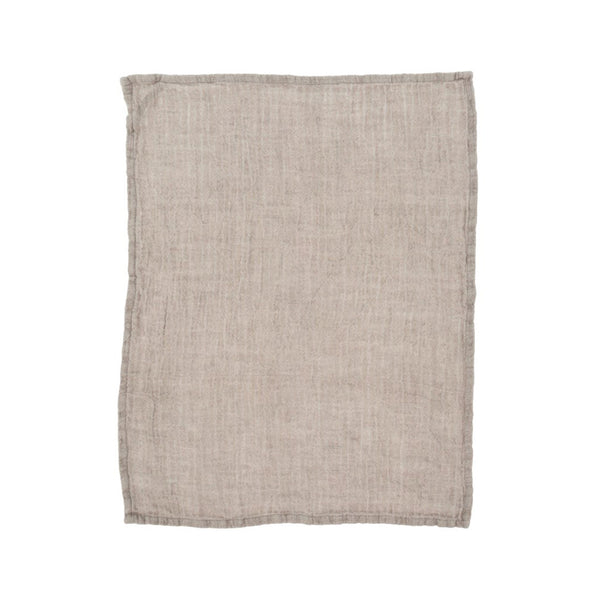 crown and birch rustic linen tea towel stone front