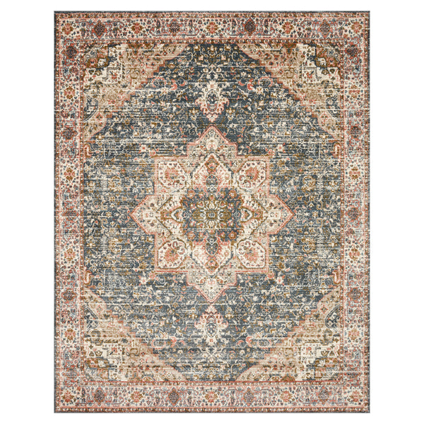 crown and birch sabas rug loloi saban blue multi front