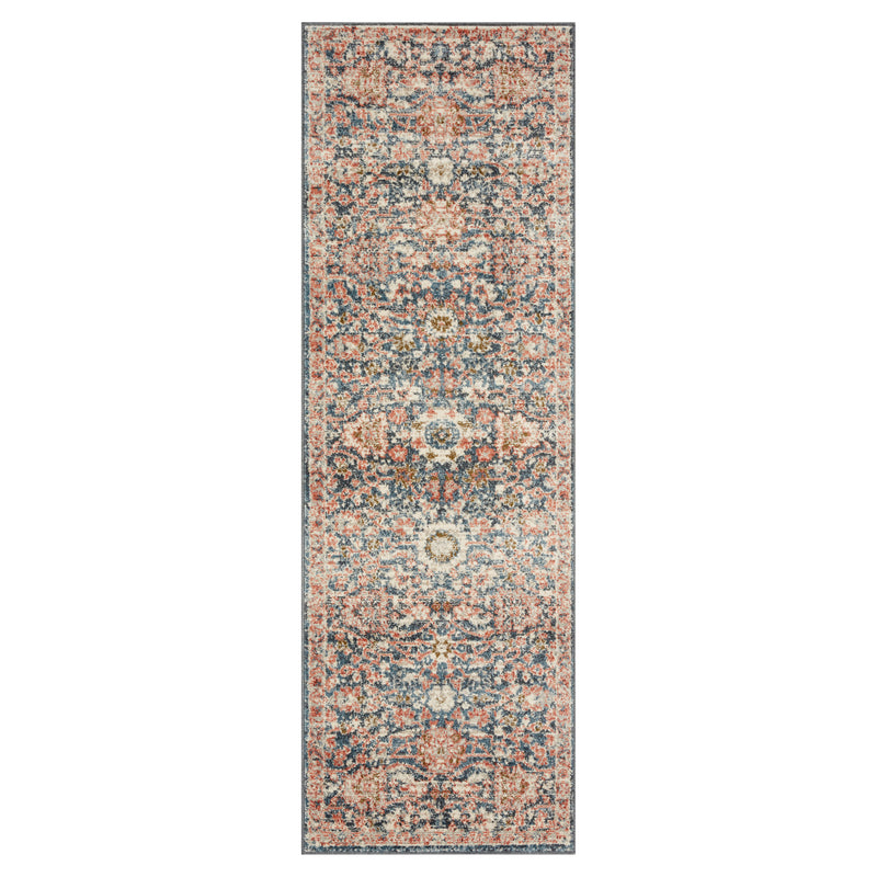 crown and birch sabas rug loloi saban navy rust runner