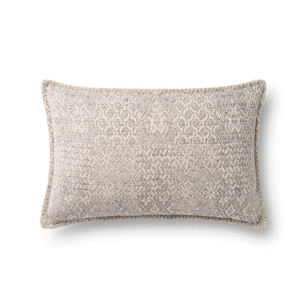 loloi p0888 grey pillow front