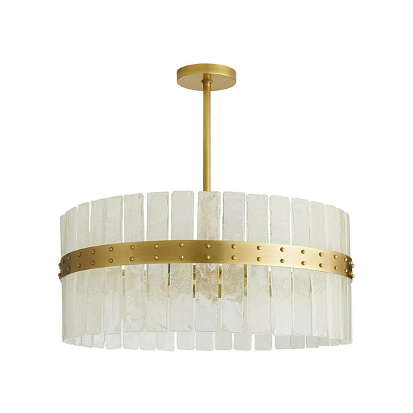 crown and birch saintclair chandelier antique brass front