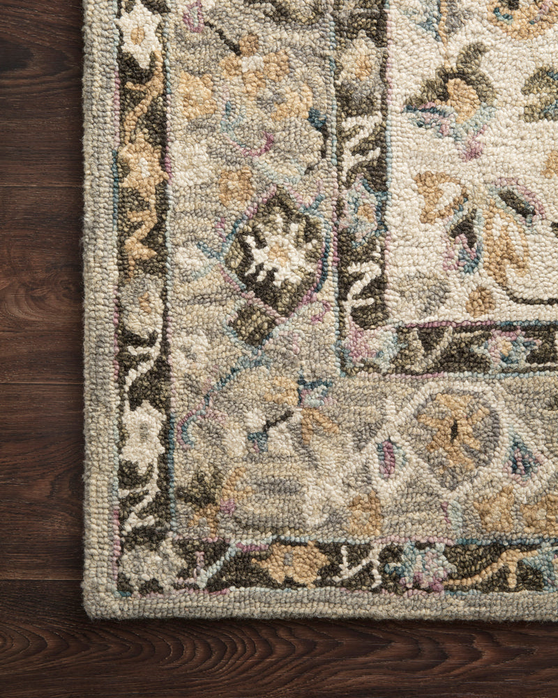 crown and birch salsbury rug grey ivory detail loloi beatty