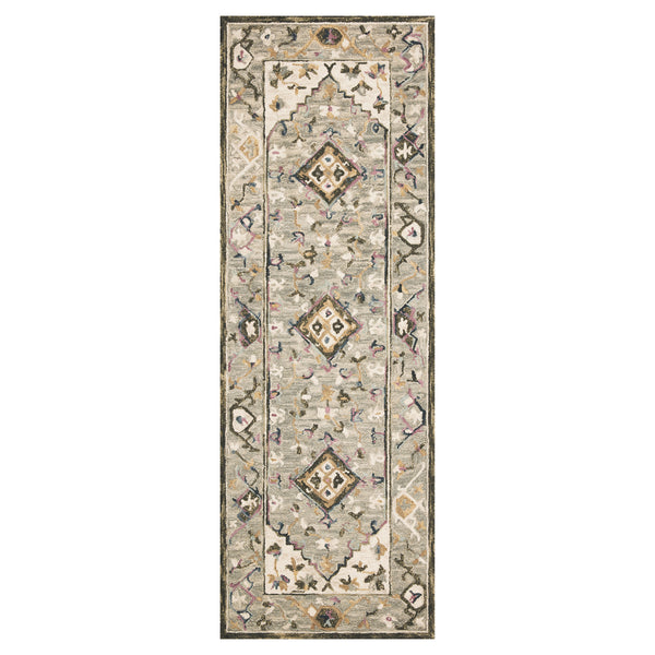 crown and birch salsbury rug grey ivory runner loloi beatty