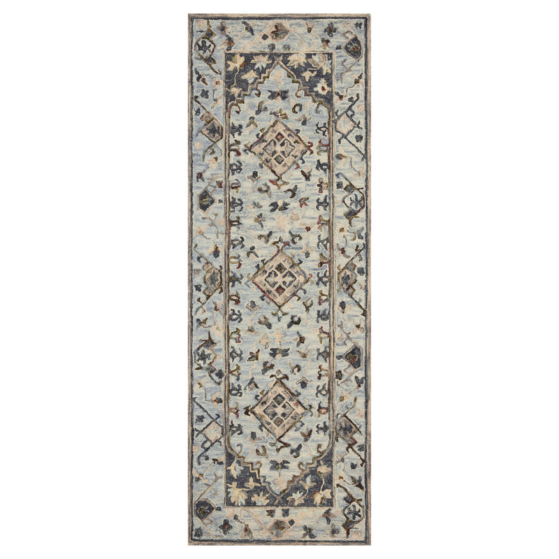 crown and birch salsbury rug light blue blue runner loloi beatty
