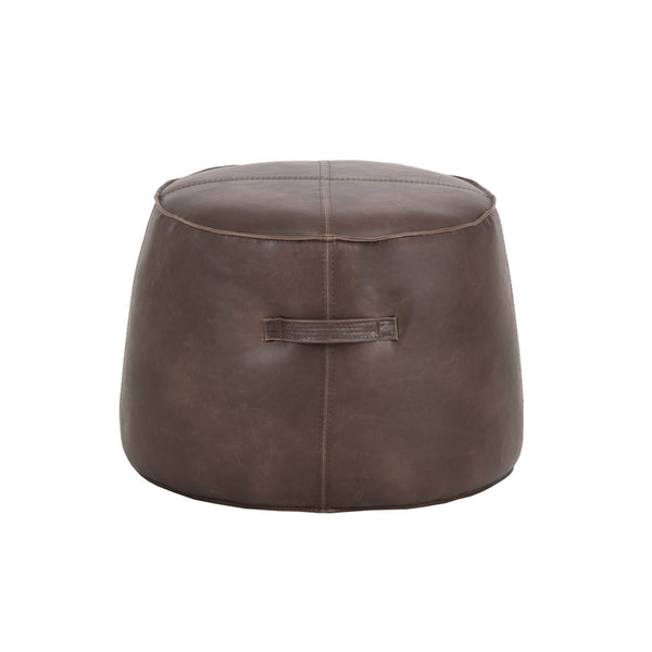 crown and birch sam ottoman dark brown front