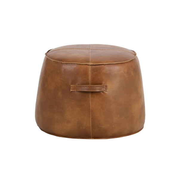 crown and birch sam ottoman tobacco tan front