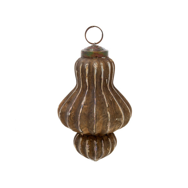 crown and birch sandstone spindle ornament brown