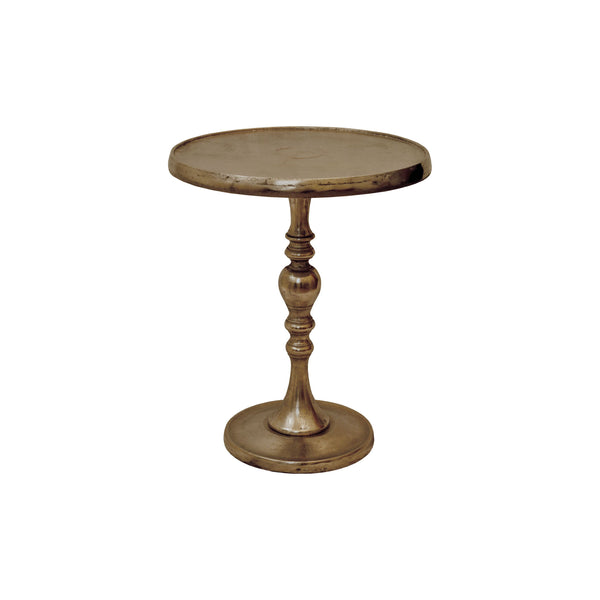 crown and birch sarah side table brass front
