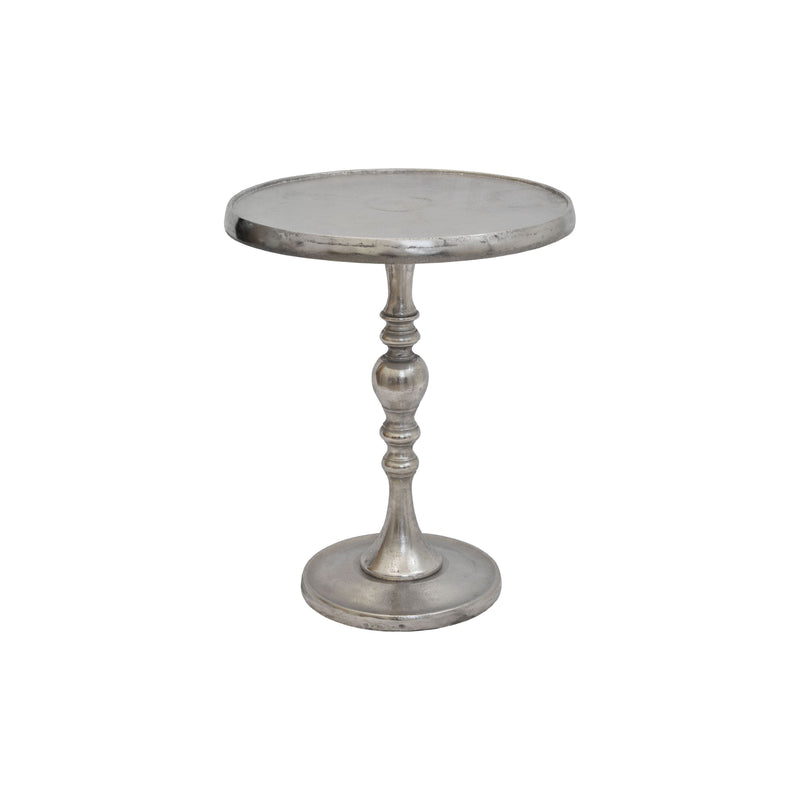 crown and birch sarah side table silver front