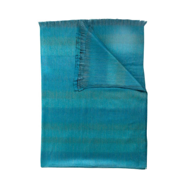 crown and birch sea green fringe throw front