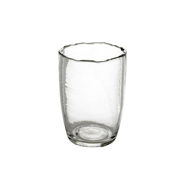 crown and birch seaglass tumbler clear front
