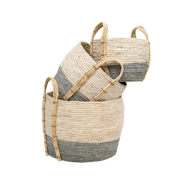 Shore Baskets, Set of 3 | Grey