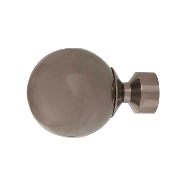 Sphere Finial | Polished Graphite