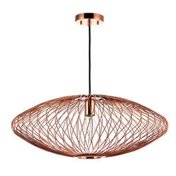 crown and birch stella copper pendant front