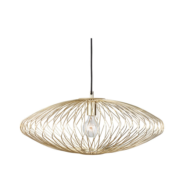 crown and birch stella matte gold pendant front
