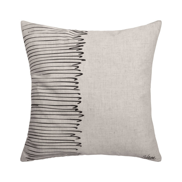 crown and birch talia black wire pillow front