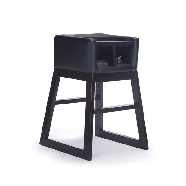 crown and birch monte design tavo high chair black espresso angle