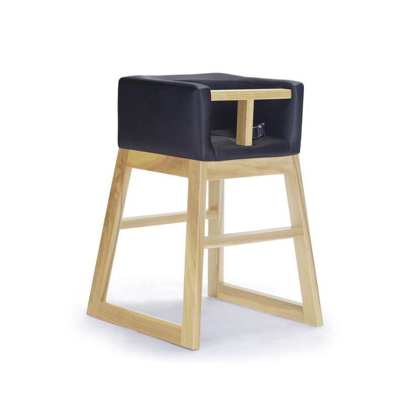 crown and birch monte design tavo high chair black maple angle