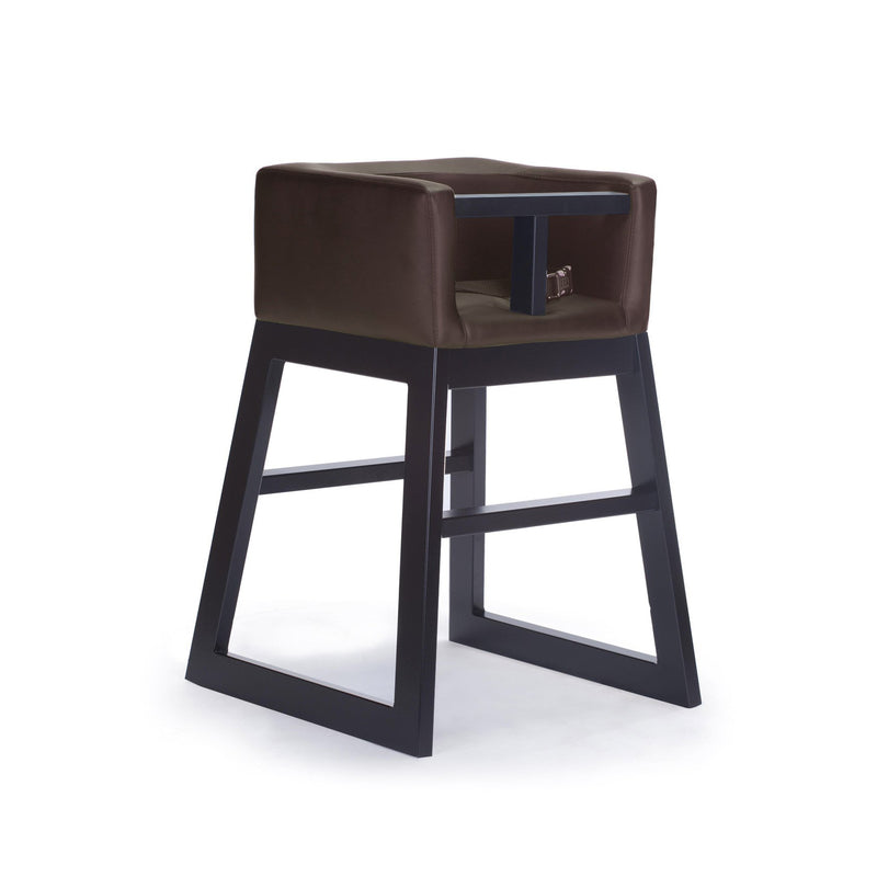 crown and birch monte design tavo high chair brown espresso angle