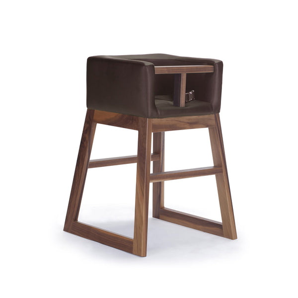crown and birch monte design tavo high chair brown walnut angle Thunder Bay