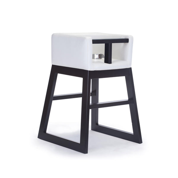 crown and birch monte design tavo high chair white espresso angle