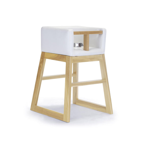 crown and birch monte design tavo high chair white maple angle
