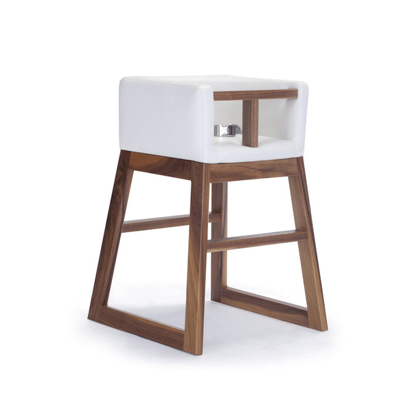 crown and birch monte design tavo high chair white walnut angle