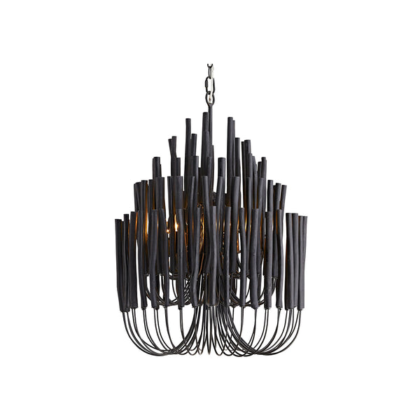 crown and birch teela chandelier black light on