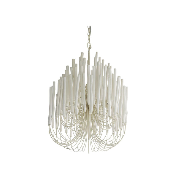 crown and birch teela chandelier white angle