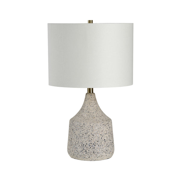 crown and birch terrazzo table lamp front off
