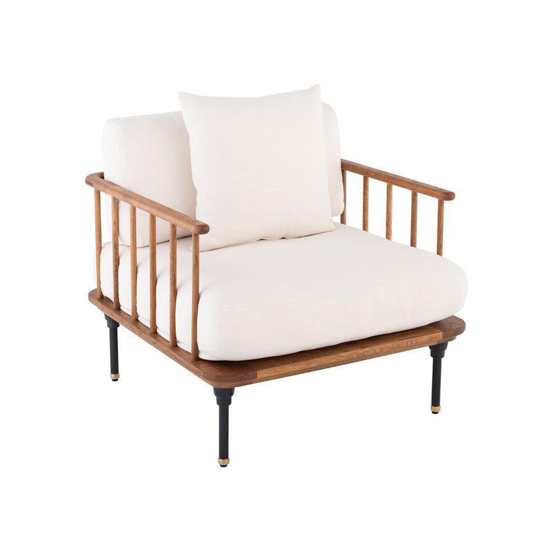 crown and birch upton occasional chair white angle