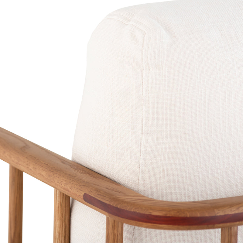 crown and birch upton occasional chair white detail
