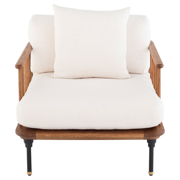 crown and birch upton occasional chair white front