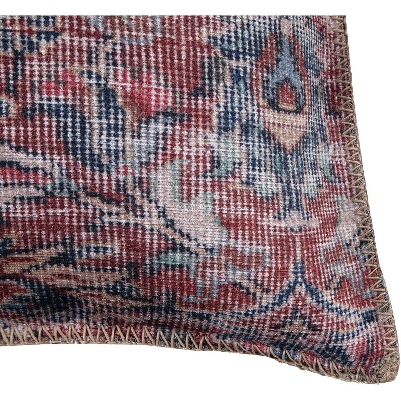 crown and birch vada paisley red blue pillow corner