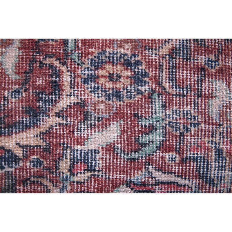 crown and birch vada paisley red blue pillow detail