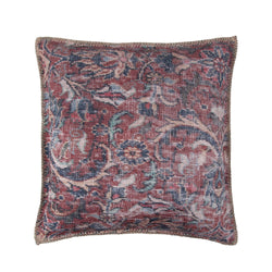 crown and birch vada paisley red blue pillow front