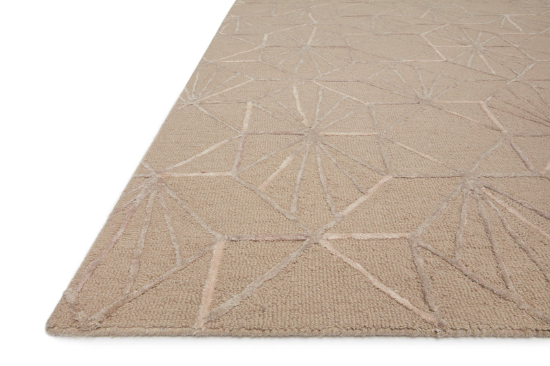 crown and birch vashti rug loloi verve sand blush detail