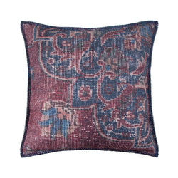 crown and birch verona purple blue traditional pillow front