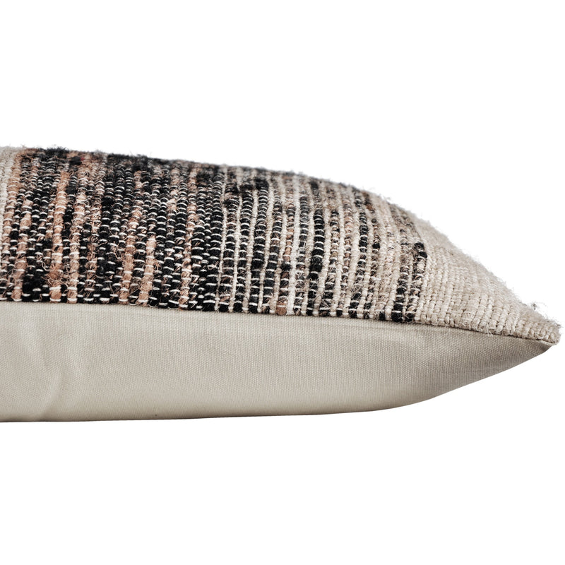 crown and birch weston grey multi stripe lumbar pillow corner